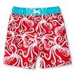 Baby Boys' Hawaiian Print Swim Trunks - Red