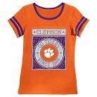 Clemson Tigers Girls Foil T-Shirt M
