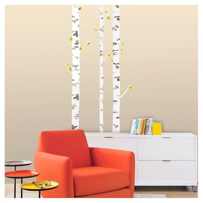 XL Decal Birch Tree