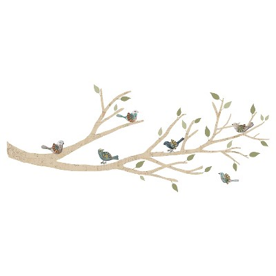 XL Decal Branch with 3D Birds