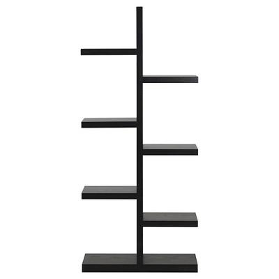 Homestar 7-Shelf Hollow Core Decorative Bookcase - Espresso
