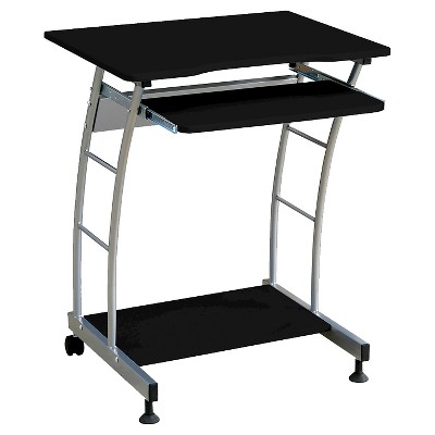Home Source Laptop Cart - Black/Silver