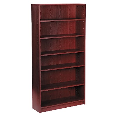 HON Bookcase 6 Shelf - Mahogany
