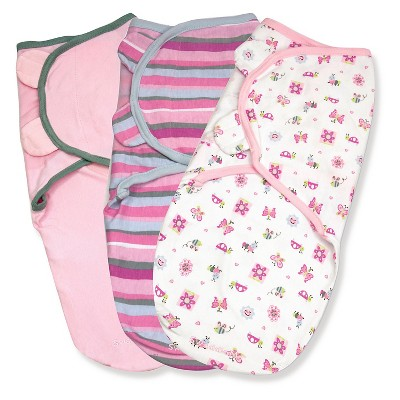 Summer Infant® SwaddleMe® Girly Bug/Stripe/Pink - 3pk (Small/Medium)