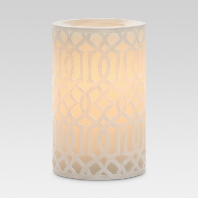 Cream Irongate 3x5 LED Pillar Candle