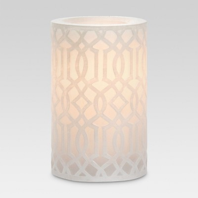 White Irongate 3x5 LED Pillar Candle