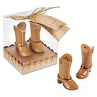 "Kate Aspen ""Just Hitched"" Ceramic Cowboy Boot Salt and Pepper Shakers - (Set of 12)"