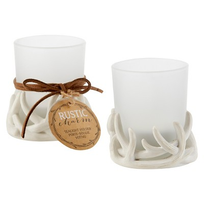 "Kate Aspen ""Rustic Charm"" Antler Tealight Holder - (Set of 12)"