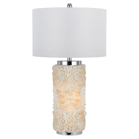 cal lighting seashell table lamp with night light target. Black Bedroom Furniture Sets. Home Design Ideas