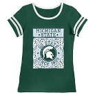 Michigan State Spartans Girls Foil T-Shirt XS