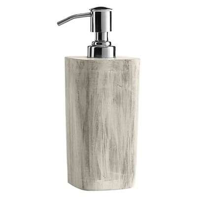 Kassatex Chatham Lotion Dispenser - Grey with White Wash