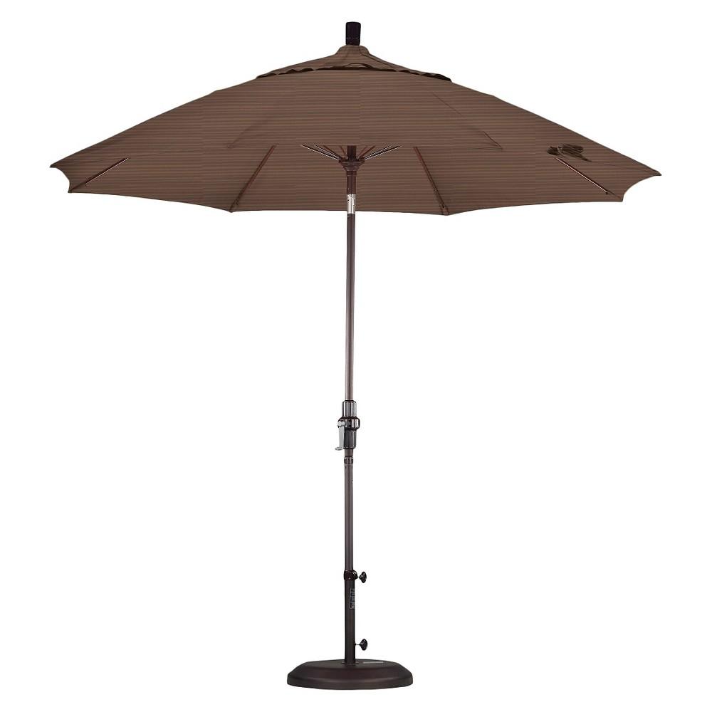 9' Aluminum Collar Tilt Patio Umbrella - Terrace Sequoia, Terrace Seqouia