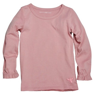 Burt's Bees Baby™ Newborn Girls' Long Sleeve Tee - Rose 0-3 M