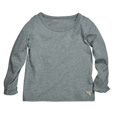 Female Tee Shirts Heather Grey 3-6 M
