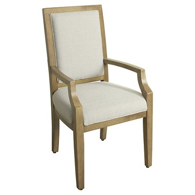 Morris Square Back Dining Chair with Arms - Natural