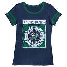 Notre Dame Fighting Irish Girls Foil T-Shirt XS