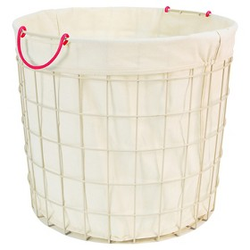 Circo Round Wire Basket with Liner - Retro Pink (Large)