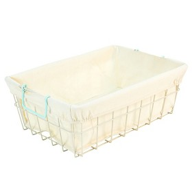 Circo Wire Folio Bin with Liner - Bleached Aqua