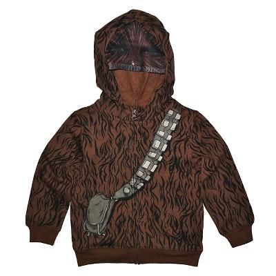 Toddler Boys' Star Wars Chewbacca Hoodie - Brown 12 M