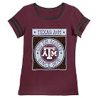 Texas A&M Aggies Girls Foil T-Shirt XS