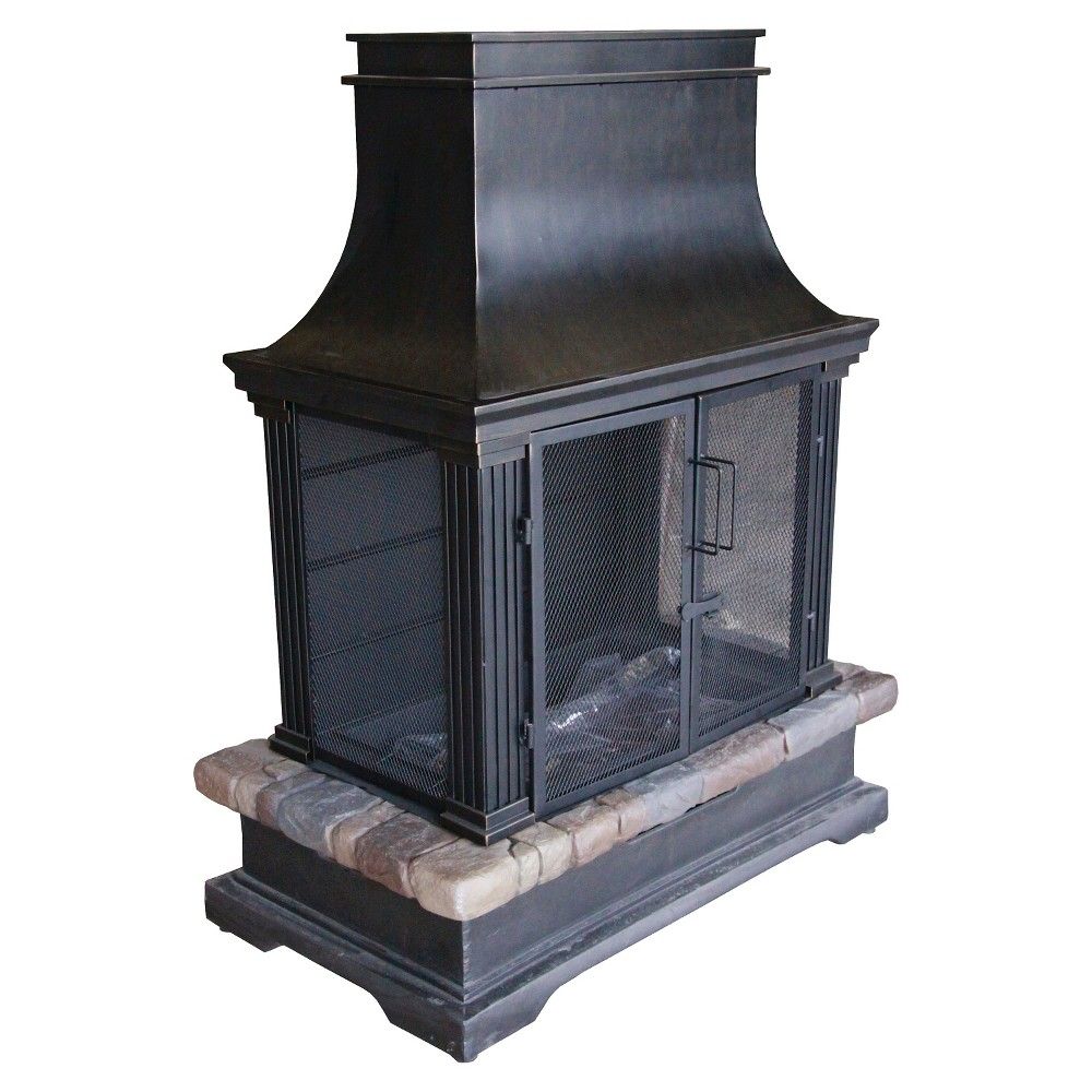 Bond Sevilla Wood-Burning Fireplace Black/Natural 66594