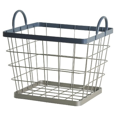 Wire Milk Crate Large Navy - Pillowfort™