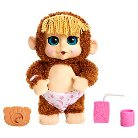 Animal Babies Jumpin' Lil Monkey Pink Diaper
