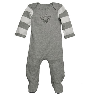 Burts Bees Baby™ Newborn Girls' Bee Coverall - Heather Grey 3-6 M