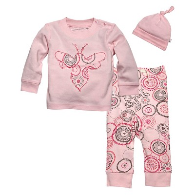 Burts Bees Baby™ Newborn Girls' 3 Piece Set - Blushing 3-6 M