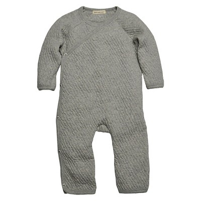 Burts Bees Baby™ Newborn Side Snap Coverall - Heather Grey 0-3 M