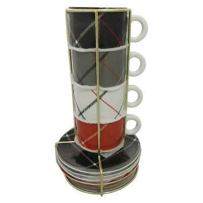 Threshold™ Mug & Saucer Set of 4
