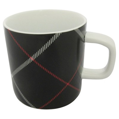 Threshold Coffee Mug Plaid Black