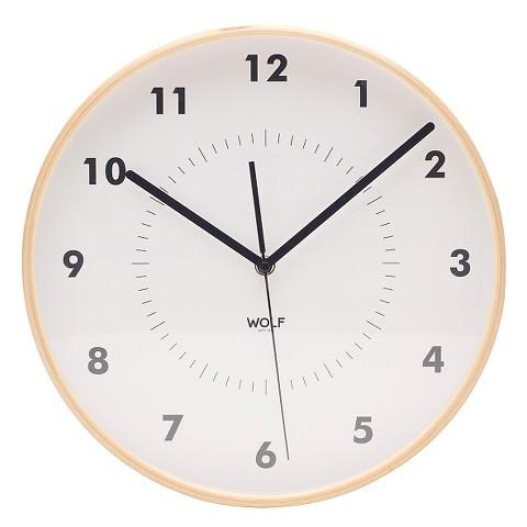 Wolf Modern Round Wall Clock White 12