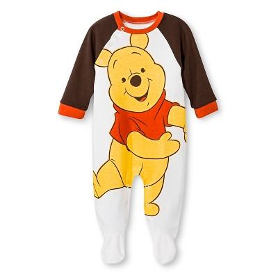 Winnie the Pooh Newborn Boys' Coveralls - White 3-6 M