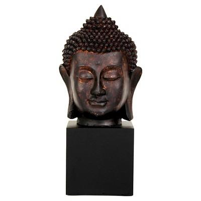 """Thai Buddha Head Statue (10"""")"""