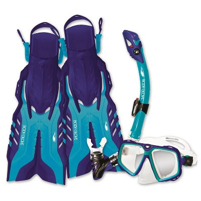 Body Glove Snorkel Set for Adults - Multicolored (S/M)