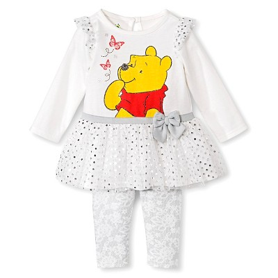 Ecom Female Top And Bottom Sets Disney 0-3 M OFFWHT