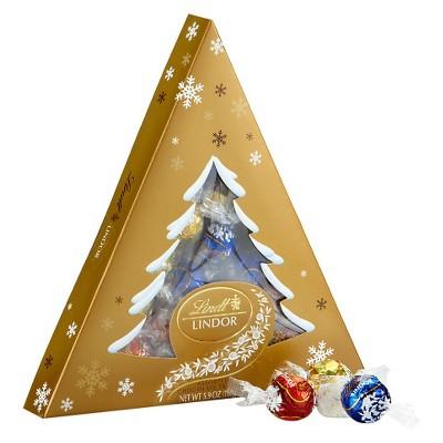 Lindt Lindor Assorted Chocolate Tree Holiday Box 5.9oz