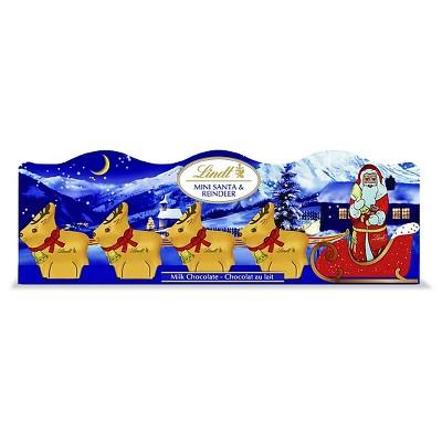 Lindt Santa Sleight Milk Chocolate Holiday 5 Pack 1.7oz