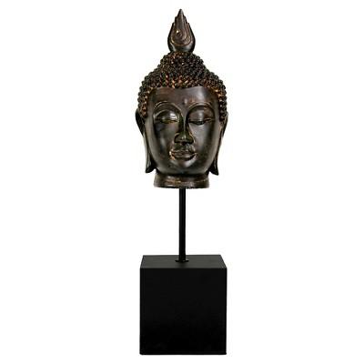 "Burmese Buddha Head Statue (19"")"