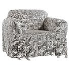 Roman Key Chair Slipcover