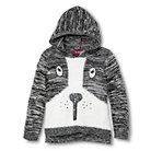 Toddler Girls' U-Knit  Hooded Puppy Sweater - Black