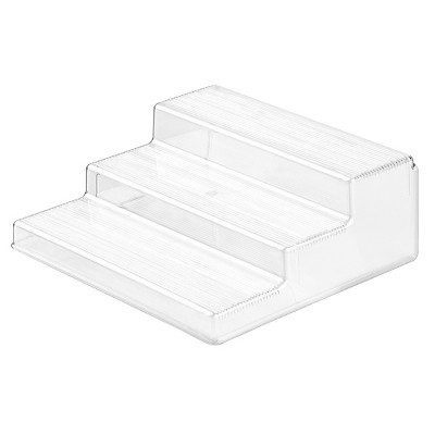 InterDesign Linus Plastic Spice Rack, 3-Tier Organizer - Clear