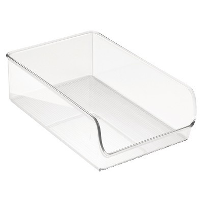 InterDesign Linus Binz Plastic Fridge and Pantry Organizer - Clear (Large)