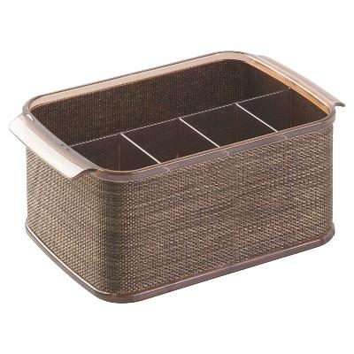 """InterDesign Twillo Flatware Caddy - Bronze/Sand (10"""")"""