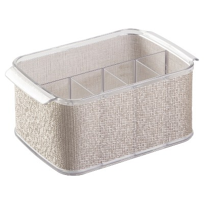 "InterDesign Twillo Flatware Caddy - Metallic/Clear (10"")"