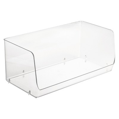 InterDesign Linus 2X Stacking Storage Bin - Clear (Large)