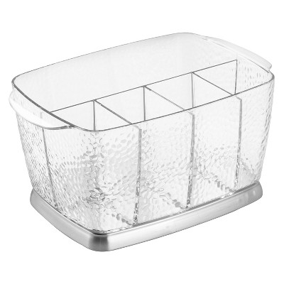 "InterDesign Rain Flatware Caddy - Clear (9"")"