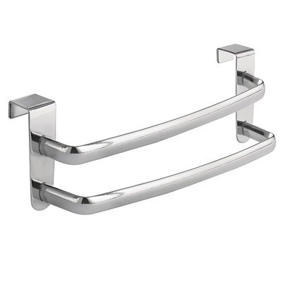 "InterDesign Axis Over-the-Cabinet Double Towel Bar - Chrome (9"")"