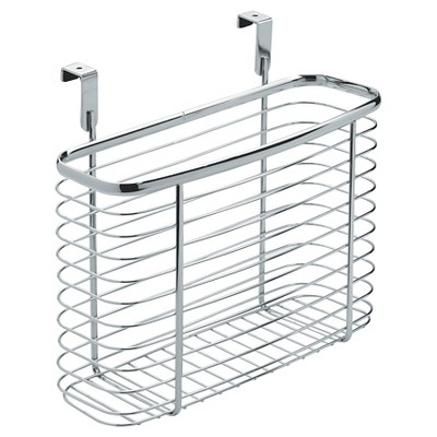 "InterDesign Axis Over-the-Cabinet X5 Steel Storage Basket - Chrome (11"")"